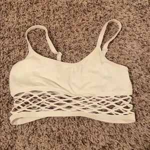 Cute white Pink sports bra